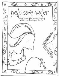 This Coloring Page For Kids Focuses On Saving Water By Turning The