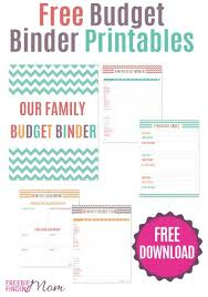 free printable budget binder or print