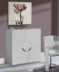white cabinet furniture. Luna, Modern 4 Door Cabinet In High Gloss White Finish, Chrome Legs Furniture