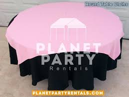 pink table cloth black round tablecloth with overlay