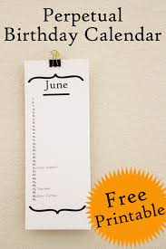 Free-Printable-Perpetual-Birthday-Calendar-682X1024   Birthday Party ...