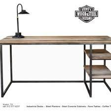 Industrial office desk Contemporary Industrial Reclaimed Wood Desk By Steve Gunn Custommadecom Industrial Desks Custom Office And Computer Desks Custommadecom