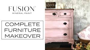 Fusion Mineral Paint Furniture Makeover English Rose Dresser