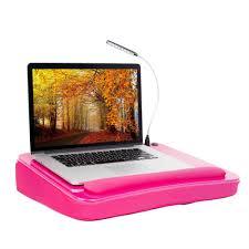 sofia sam memory foam lap desk with usb light and wrist rest pink com