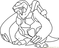 Small Picture Pokemon Coloring Pages Carracosta Coloring Pages
