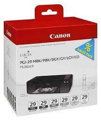 Набор <b>картриджей Canon PGI-29</b> MBK/PBK/DGY/GY/LGY ...