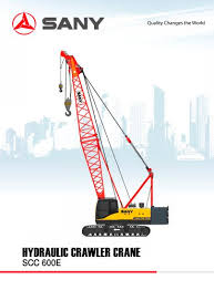 350 Ton Crawler Crane Load Chart Sany Scc600e 60 Tons Crawler Crane For Building And Oil