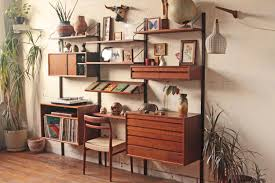 Wall Shelves With Desk Amazing Mid Century Modern Wall Shelves 27 In Wall Mounted Desk