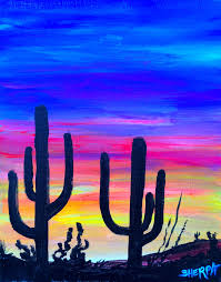 sunset in kingman az a fully guided suset paint along fully guided painting tutorial easy acrylic