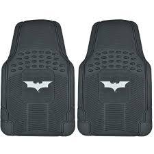 Dark Knight Batman Rubber Floor Mats for Car 2 Piece Front