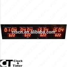 multi time zone clock digital multi time zone clock decorative led wall clock with world time