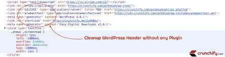 since long time i was using couple of plugins to clean up some of the fields from wordpress headers there are quite a few informations which you usually