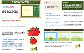 School Newspaper Template Publisher Free Newsletter Templates For Pages Under Fontanacountryinn Com