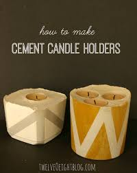 Diy Candle Holders Diy Concrete Candle Holders Twelveoeight