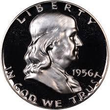 1956 Type 1 50c Pf Franklin Half Dollars Ngc