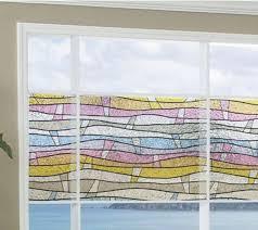 Fensterfolie Wellen Bunt 150x46 Cm Statische Dekorfolie Gls4651