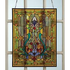 victorian style stained glass window panel 30 reviews 4 77 stars acorn hr9252