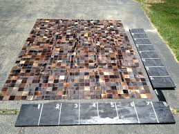 patchwork cowhide rug australia mixed dark whole