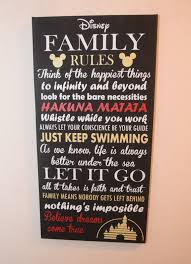 like this item  on inspirational quote canvas wall art with inspirational quote sign family rules sign unique disney
