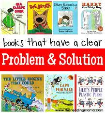 books that have a clear problem and solution text structure plied by this reading mama