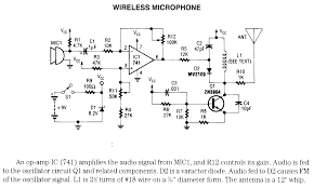 microphone circuits page 4 wireless microphone schematic only no circuit description