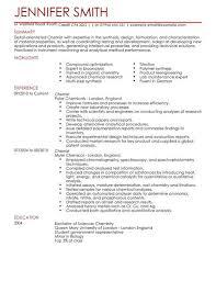 Enjoyable Inspiration Chemist Resume 5 Chemist CV Example For