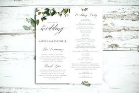 Free Microsoft Word Wedding Program Template Free Wedding Program Template Inspirational Sample Programs