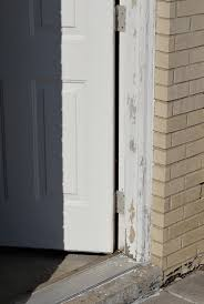 chipping paint on door jamb