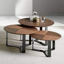 most unique round coffee and side tables