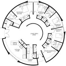 roundhouse! i have always imagined this exact plan! cob building House Plans Cost Build Calculator round floor plan for cob or yurt small enough but has everything Average Cost for House Plans