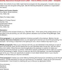 Gallery Of Cover Letter For Quality Assurance Associate Cover