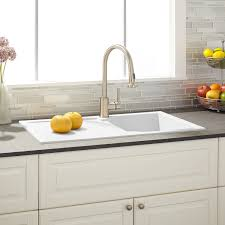 white kitchen sink with drainboard. 34\ White Kitchen Sink With Drainboard