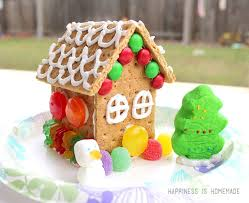 simple gingerbread houses for kids. Delighful Simple Decorated Graham Cracker Gingerbread House Intended Simple Houses For Kids