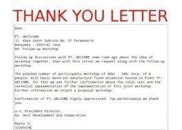 Business Thank You Letter Sample Template