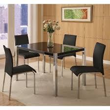 stefan hi gloss black dining table and 4 chairs