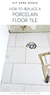 how to replace a porcelain floor tile
