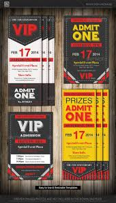 Ticket Flyer Template Admit One Vip Ticket Invitation Template ...