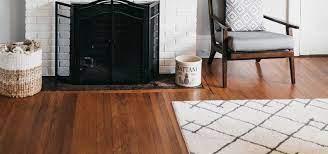 hardwood meets brick fireplace