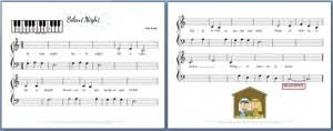 sheet music for kids silent night piano sheet music for kids my fun piano studio