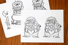 Printable Big Mouth Monster Coloring Pages Its Always Autumn