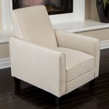 Small Recliners For Bedroom Furniture Modern White Recliner Armchair Designed With Black Legs