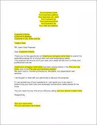 landscape maintenance proposal template business proposal letter templ business proposal letter template pdf