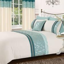 teal cream colour stylish matallic fl diamante duvet cover luxury beautiful glamour bedding