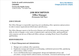 Personnel Management Job Description Job Description Templates 32 Free Word Excel Pdf Free