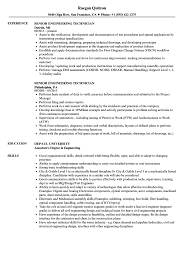 Download Senior Engineering Technician Resume Sample as Image file