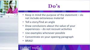 writing the fulbright personal statement