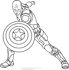 Captain America Printable Coloring Pages Geraldabreuinfo