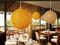 rattatoon rattan globe pendant lamp original rattan and yellow