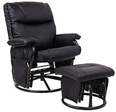glider rocker swivel chairs. merax® black pu leather nursing glider rocker recliner and ottom swivel chair with chairs e