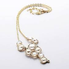 swarovski moonlight and silver fantasy large necklace gold plated 973739
